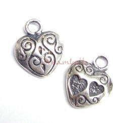1x Sterling Silver SWEET HEART Dangle Charm Pendant