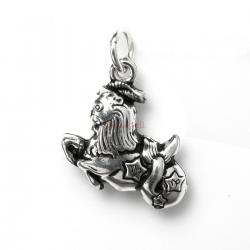 1 x 925 Sterling Silver Capricorn Zodiac Horoscope Star Dangle Charm Pendant