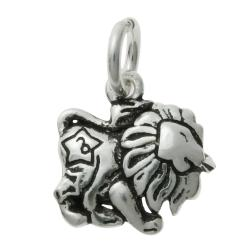 1 x 925 Sterling Silver Leo Zodiac Horoscope Star Dangle Charm Pendant