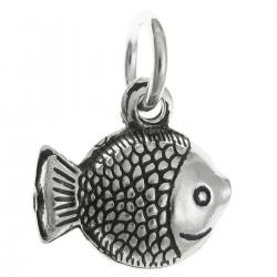 1 x 925 Sterling Silver Ocean Tropical Fish Dangle Pendant Charm