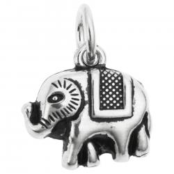 1 x 925 Sterling Silver Elephant Dangle Pendant Charm