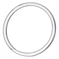 2X STERLING SILVER Round Closed jump Ring Hoop Connector