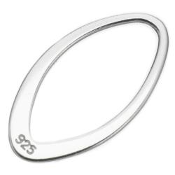 2x Sterling Silver Oval Jump Ring Hoop Connector 18mm