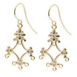 Vermeil 14K Gold plated over 925 Sterling Silver FLOWER CHANDELIER EARRING CONNECTOR