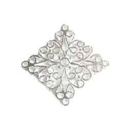Bright Sterling silver FILIGREE Center Piece Connector 20mm