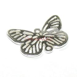 2x Sterling Silver Butterfly Bead Link Connector 10.5mm