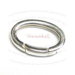 1x STERLING Silver Oval CLASP LOCK Enhancer Shortener 20mm
