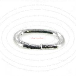 20 x Open Oval Jump Rings 925 Sterling Silver Wire 4mm x 6mm
