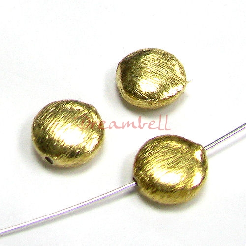 2x Vermeil 14K Gold plated over Sterling silver Round button Bead spacer 8mm