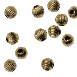 10x 14k Gold Filled Round Corrugated Spcer BEAD  2.5mm