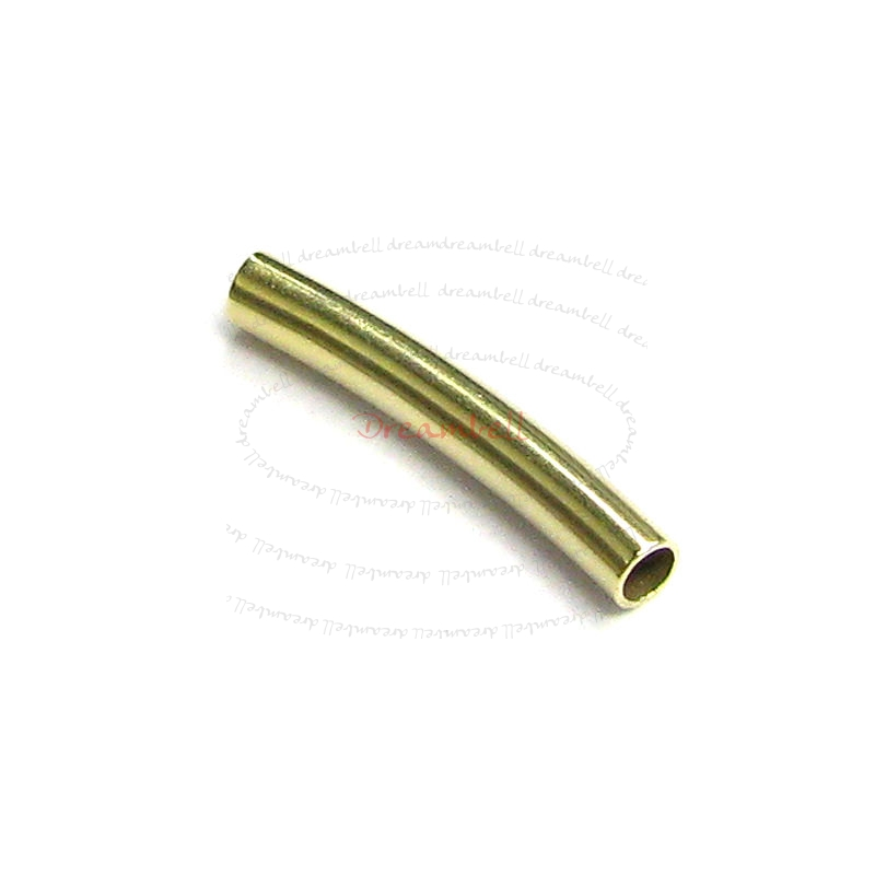 10x 14k Gold Filled Curve Tube Bead Spacer 10mm x 2mm