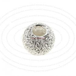 10x Sterling silver Round Stardust Bead Spacer 5mm