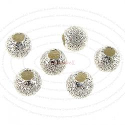 10x Sterling silver Round Stardust Bead Spacer 3mm