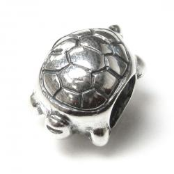 Antique Sterling Silver Sea Turtle Bead for European Charm Bracelets