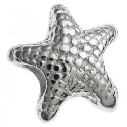 Sterling Silver Star Fish Bead for European Charm Bracelets
