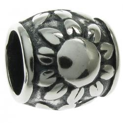 Sterling Silver The Sun Tube Bead for European Charm Bracelets