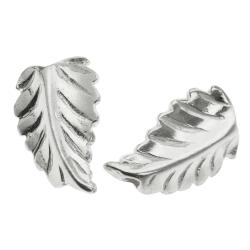 2x Bright Sterling Silver LEAF Bead Spacer 11.6mm
