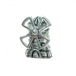 Sterling Silver DUTCH WINDMILL Bead for European Charm Bracelets