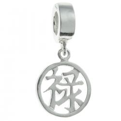 "Sterling Silver Chinese Word TREASURE"" Dangle Bead for European Charm Bracelets"
