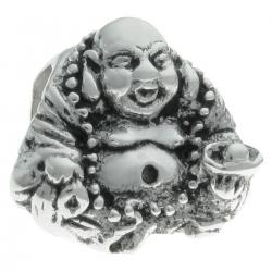 Sterling Silver CHINESE HAPPY Buddha Bead for European Charm Bracelets