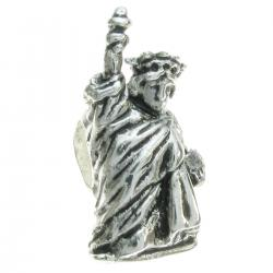 Sterling Silver Statue of Liberty Bead for European Charm Bracelets