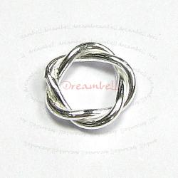 10x STERLING SILVER Bead Spacer   Twist Jump  rings 7mm for European Charm Bracelets