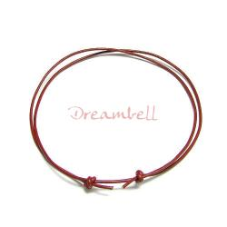 "1x Red leather cord 1mm adjustable Anklet Bracelet 9""-17"""