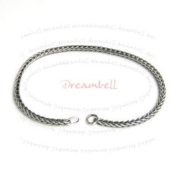 Sterling Silver Snake Chain Bracelet for European Bead Charm 18cm 7.25""