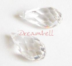 1 Swarovski Crystal Teardrop Briolette 6010 Clear 21mm