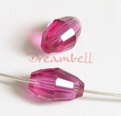 6x Swarovski Crystal Elements 5200 Olive Bead Spacer Fuchsia Pink