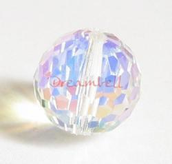 1x SWAROVSKI 5003 CRYSTAL AB Round DISCO BALL 14mm