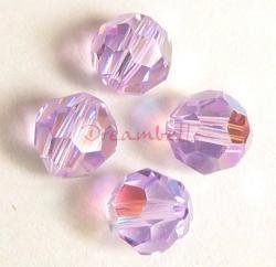 6x AB Swarovski Crystal Elements Round Faceted 5000 Violet 8mm