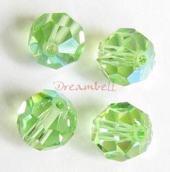 12x Swarovski Crystal Elements Round Faceted 5000 Peridot AB 3mm