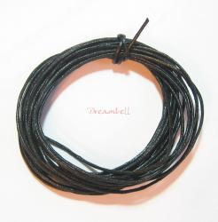 5 YARDS WAXED COTTON BEAD STRINGING CORD 1MM Black