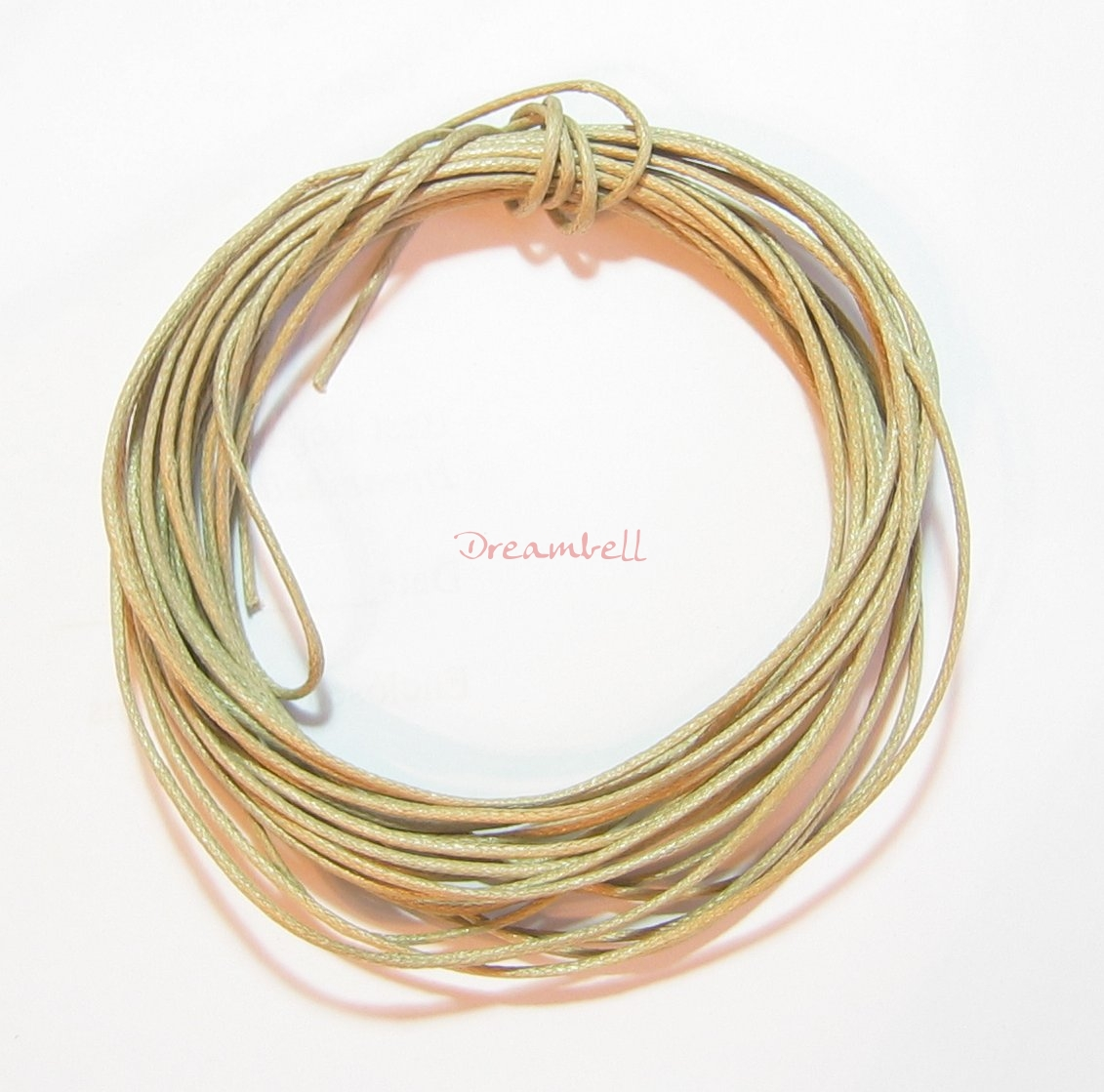 5YDS WAXED COTTON BEAD STRINGING CORD 1MM Light Tan