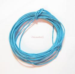 5 YARDS WAXED COTTON BEAD STRINGING CORD 1MM Turquoise Blue
