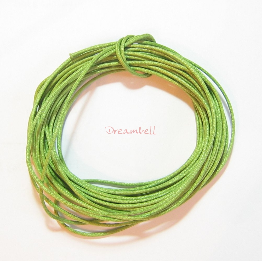 5 YARDS WAXED COTTON BEAD STRINGING CORD 1MM Light Olivine