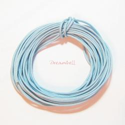 5 YARDS WAXED COTTON BEAD STRINGING CORD 1MM Light Blue