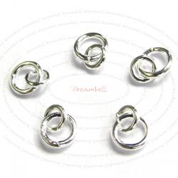 10x STERLING SILVER Link Jump Ring 4mm 3mm Connector 925