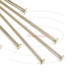 10x 14K Gold Filled Headpins Head pins 26ga 1.5""