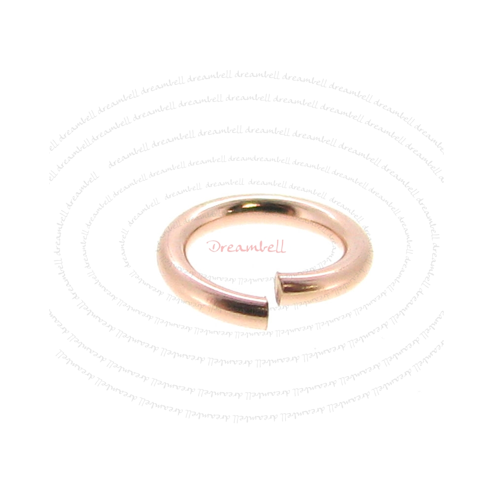 10x 14k Rose Gold Filled Round Open Jump Rings 5mm 21 Gauge Wire
