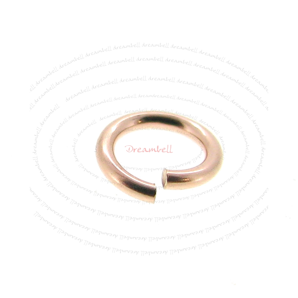20x 14k Rose Gold Filled Open Jump Rings 4mm 22 Gauge 22 Ga 0.6mm Wire