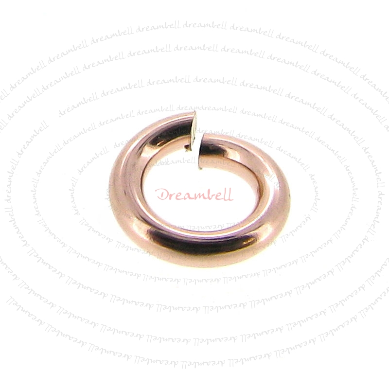 10x 14k Rose Gold Filled Twist & Lock Jumplock Open Jump Rings 4mm 20 Gauge Wire