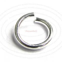 20 x Sterling Silver Wire 6mm (18ga) Open Jump Rings
