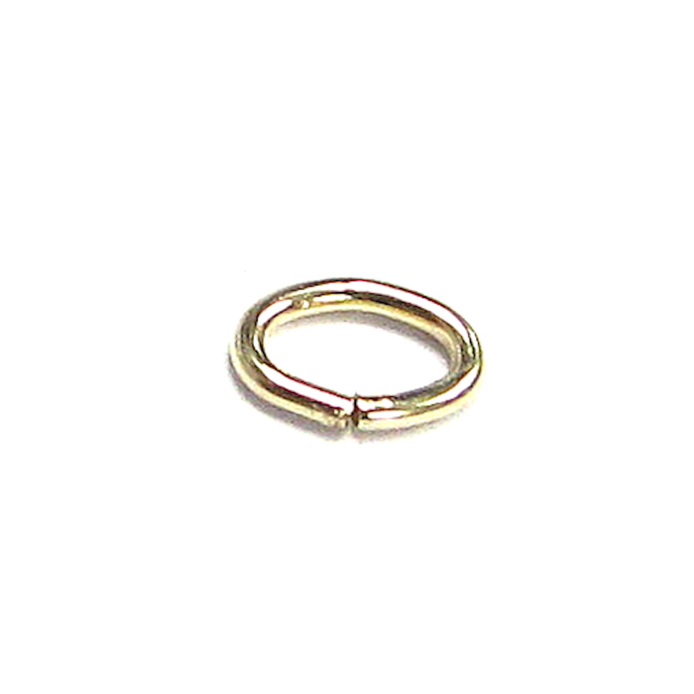 10x Open OVAL Jump Rings 14K Gold Filled Wire 4.5mm x 3mm