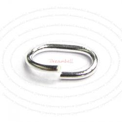 10 x Open Oval Jump Rings 925 Sterling Silver Wire 5mm x 8mm