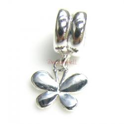 Sterling silver Butterfly Dangle Bead for European Charm Bracelets