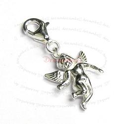 Sterling Silver Cute Little Angel Dangle Pendant for European Lobster Clip on Charm