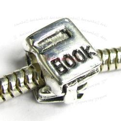 Sterling Silver Student Book Reader Bead for European Charm Bracelets