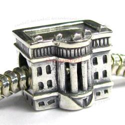 Sterling Silver America USA WHITE HOUSE Bead for European Charm Bracelets